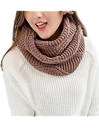 Foulards Femme,Mode Couleur unie Chaud Écharpe en Tricot Multi-purpose Hiver  Automne Bringbring d277a2d0e5e