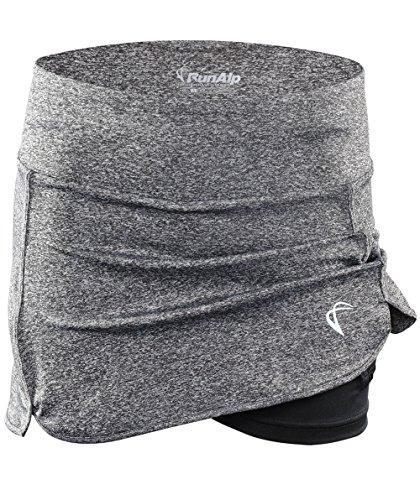 RunAlp Tennisrock Damen Schwarz Skirt Minirock -Tennisröcke Grau Skort Falten mit Innenhose