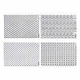 Kaiser Motiv-Schablonen-Set 4-teilig Inspiration Sweet & Style großflächige Prägung 8 attraktive Prägemotive im DIN A4 Format transparent zum leichten Aneinanderreihen des Strukturmotivs.