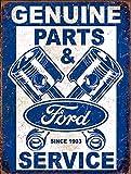 Metall Vintage Retro Shabby Chic Blechschild Original Teile & Ford seit 1903?Wandplakette (2946)