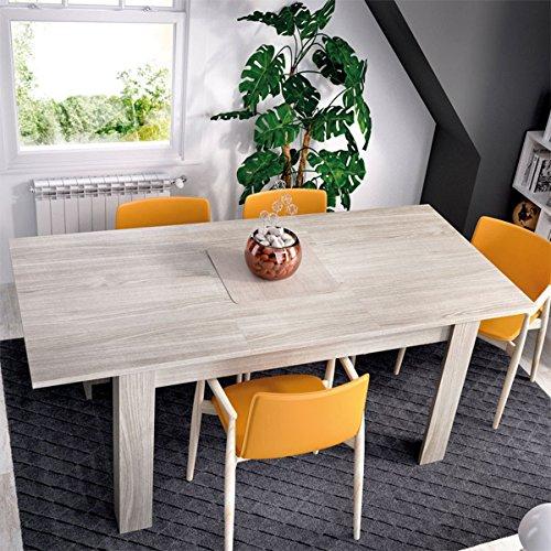 PEGANE Table à Manger Extensible Coloris Gris - Dim : 90 x 78 x 140-190 cm