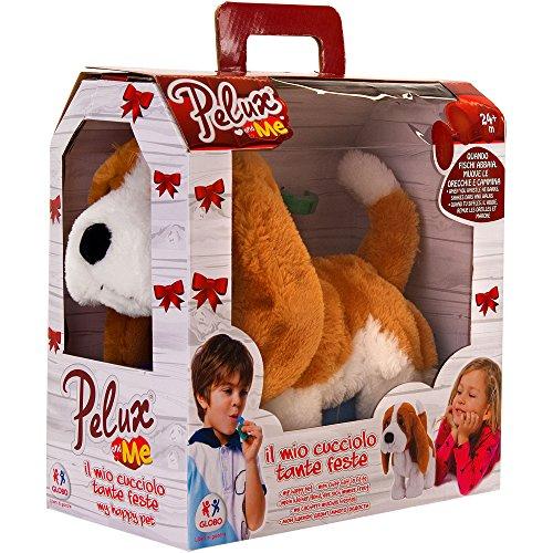 PELUX Perro con pilas con 2 silbatos anda y mueve orejas (Globo 37018)