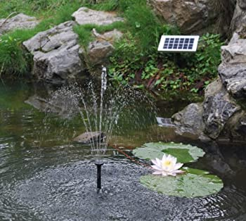 Solar Fountain Pump 2w - Floating Water Pump For Small Pond, Garden, Water Feature, Bird Bath 70 Cm Height By Pk Green 3