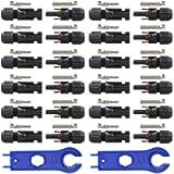 GTIWUNG 12 Paia Solari Cavo Connettori Impermeabili, Connettori da Cavo per Pannelli Solari, Connettori Maschio e…
