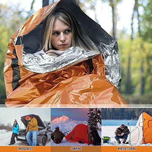Thermal Insulation Bright Orange Exterior Bushcraft Reflective Lining Interior 2 Pack Bramble Emergency Bivvy Bag Survival Sleeping Bag