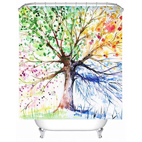 YLG® Badezimmer wasserdichte Duschvorhang modernen Stil Hause schwarz und weiß Streifen einfache Gitter Muster Duschvorhang Haken , C , 180*180 (Gitter-duschvorhang)