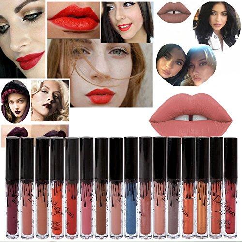 BOBORA 16 Colors Waterproof Long Lasting Matte Liquid Lipstick Beauty Lip Gloss