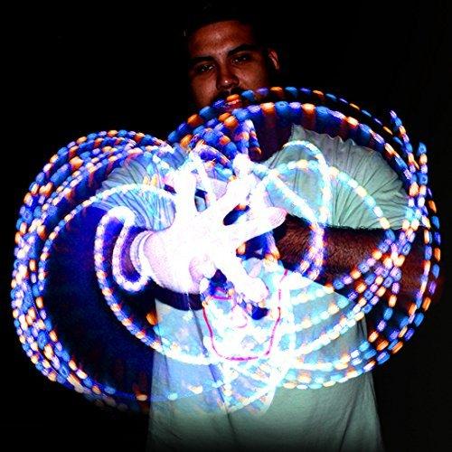 GloFX Lux LED Handschuhe Blinkende Bunte Finger: Leuchtende LED-Rave-EDM - GloFX Lux Glove Set: Light Up LED Rave EDM (Light Up Rave Handschuhe)