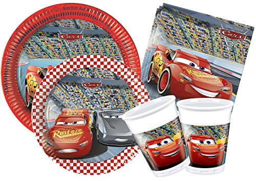 Ciao y4323-Kit Party in-Cars 3, Rot (Geburtstag Party Cars)