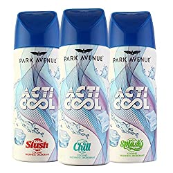 Park Avenue Acti Cool Slush Chill And Splash Pack Of 3 Deodorant For Men