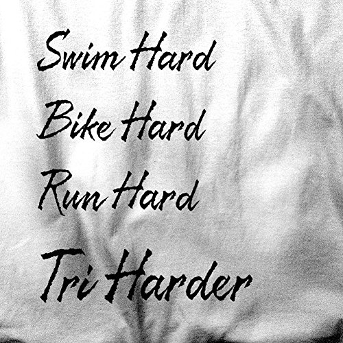 Swim Bike Run Hart Tri härteres Triathlon-Athleten Sport Herren T-Shirt Grey
