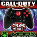 Xbox 360 Rapidfire Controller - Chrome Red Buttons - BEST MOD ON AMAZON!! Jumpshot - Dropshot - Jitter - all the best modes!! CoD - Battlefield - Mod - Custom