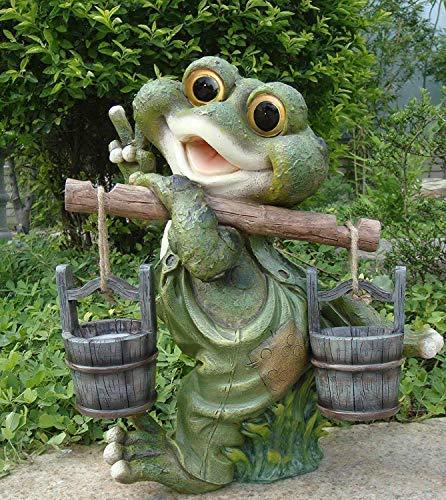Frosch XXL 40 cm Hoch Deko Garten Gartenzwerg Figuren Dekoration (40 cm 11169-3)