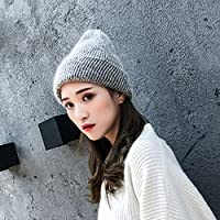 51384b92ff0e3 Yukun Gorro de lana Moda Salvaje Color Puro Sombrero De Punto Mujer Otoño E  Invierno Dulce