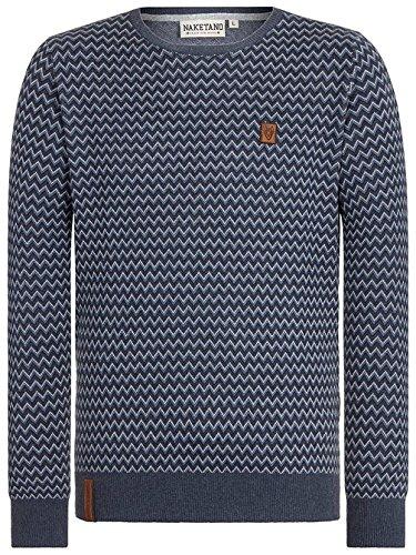 Naketano Male Knit Junge Doff II bluegrey melange