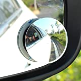 """CarFrill Blind Spot Mirror, 2"""" Round HD Glass Frameless Convex Rear View Mirror, Pack of 2"""