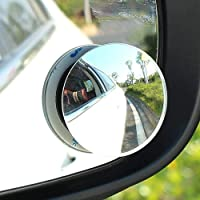 "CarFrill Blind Spot Mirror, 2"" Round HD Glass Frameless Convex Rear View Mirror Cars/Trucks/Vans, Pack of 2,Mirror"