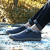 SAGUARO Herren Damen Winterschuhe Warm Gefütterte Boots Stiefelette Outdoor Waterproof Schneestiefel,Low Top Blau,40 EU - 6