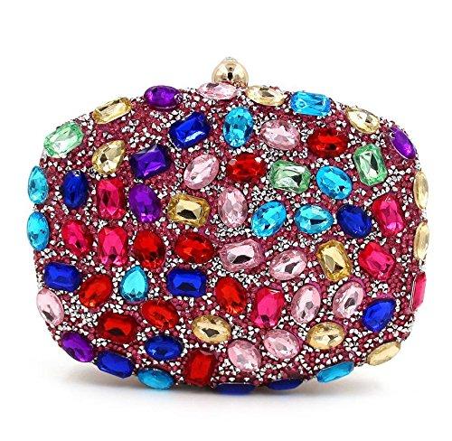 WYB Strass Abendtasche / Clutch Diamant / Party Fashion Messenger Bag / Handtasche 3