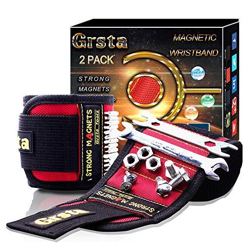 Grsta Magnetisches Armband - Personalisierte Geschenke für Männer, Frauen geschenk, DIY Gadget, kleine Geschenke für Elektriker, Handwerker, Heimwerker, Herren Magnetarmband Werkzeuge, Papa Geschenk