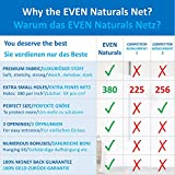 EVEN Naturals MOSQUITO NET for Bed Canopy, Tent for Full, Double to Super King Size, EXTRA LARGE Square Curtains, White Mosquito Netting with 2 Openings, Easy Installation, Carry Bag