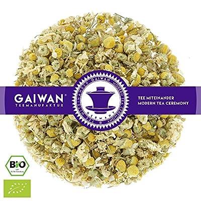 """N° 1428: Thé aux herbes bio """"Fleurs de camomille"""" - feuilles de thé issu de l'agriculture biologique - GAIWAN® GERMANY - camomille de Allemagne"""