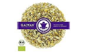 """Núm. 1428: Té de hierbas orgánico """"Flores de manzanilla"""" - hojas sueltas ecológico - 100 g - GAIWAN® GERMANY - manzanilla de la agricultura ecológica en Alemania"""
