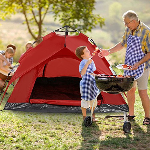 Pop Up Tent ... & Pop Up Tent 2 Man Sun Shelter Camping Beach Tent for 4 Season ...