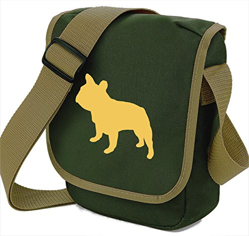 Bag Pixie - Borsa a tracolla unisex adulti Beige Dog Olive Bag