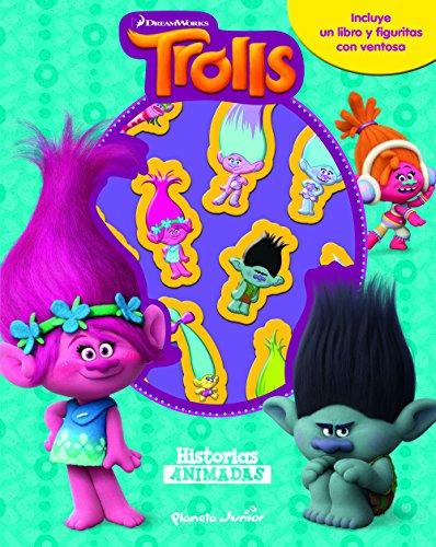 Trolls. Historias animadas: Libro con 10 figuritas (Dreamworks)
