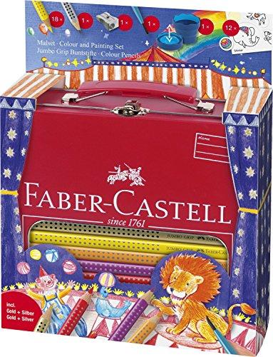 Faber-Castell A.W. 201352–Malset Jumbo Grip Circo En Estuche de metal