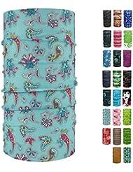 ebos Multifunktionstuch ✓Schlauchtuch | Multischal | Bandana | Halstuch | Kopftuch | vielseitig und clever | verschiedene Designs