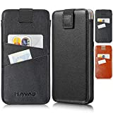 KAVAJ Tasche geeignet für Apple iPhone 11 / XR 6.1' Leder - Miami - Schwarz Handyhülle Hülle...