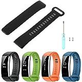 Jiamins Smart Watch Bracelet en silicone Strap Band de remplacement pour Huawei Band 2/Band 2Pro montre