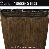 Extension a Clip Cheveux Naturel Rajout Monobande Une Pièce 100% Cheveux Humain Vrai...