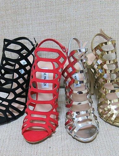 UWSZZ IL Sandali eleganti comfort Scarpe Donna-Sandali-Formale / Casual / Serata e festa-Tacchi / Spuntate / Con cinghia / Cinturino alla caviglia-A stiletto-Finta pelle- Silver