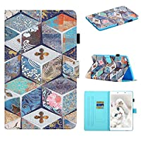 """Mylne for Samsung Galaxy Tab A 8.0"""" SM-T290 2019 Case,Slim Fit PU Leather Folio Stand Wallet Cover Cute Pattern Shockproof Shell,Retro Flower"""