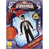 E.V.A músculo del pecho del hombre araña negro traje. Grande 7-8 años.