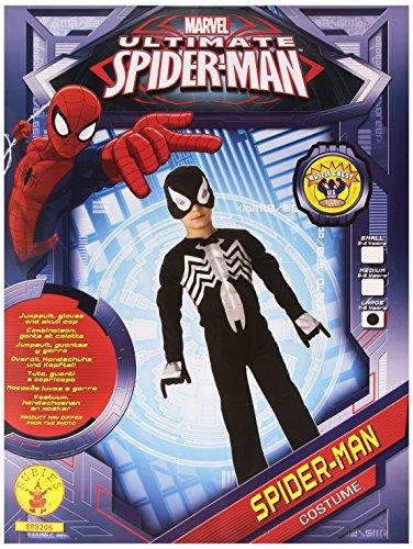 E.V.A Muskel Brust schwarz Spiderman Kostüm. Große 7-8 (Schwarz Spiderman Kostüme)
