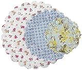 Talking Tables Truly Scrumptious; Spitzendeckchen mit Blumenmotiv für Teekränzchen, Hochzeiten und Geburtstagspartys, Bunt (24 pro Pack)