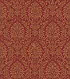 Trianon 2015 512878 - Papel pintado, diseño barroco, color rojo y naranja