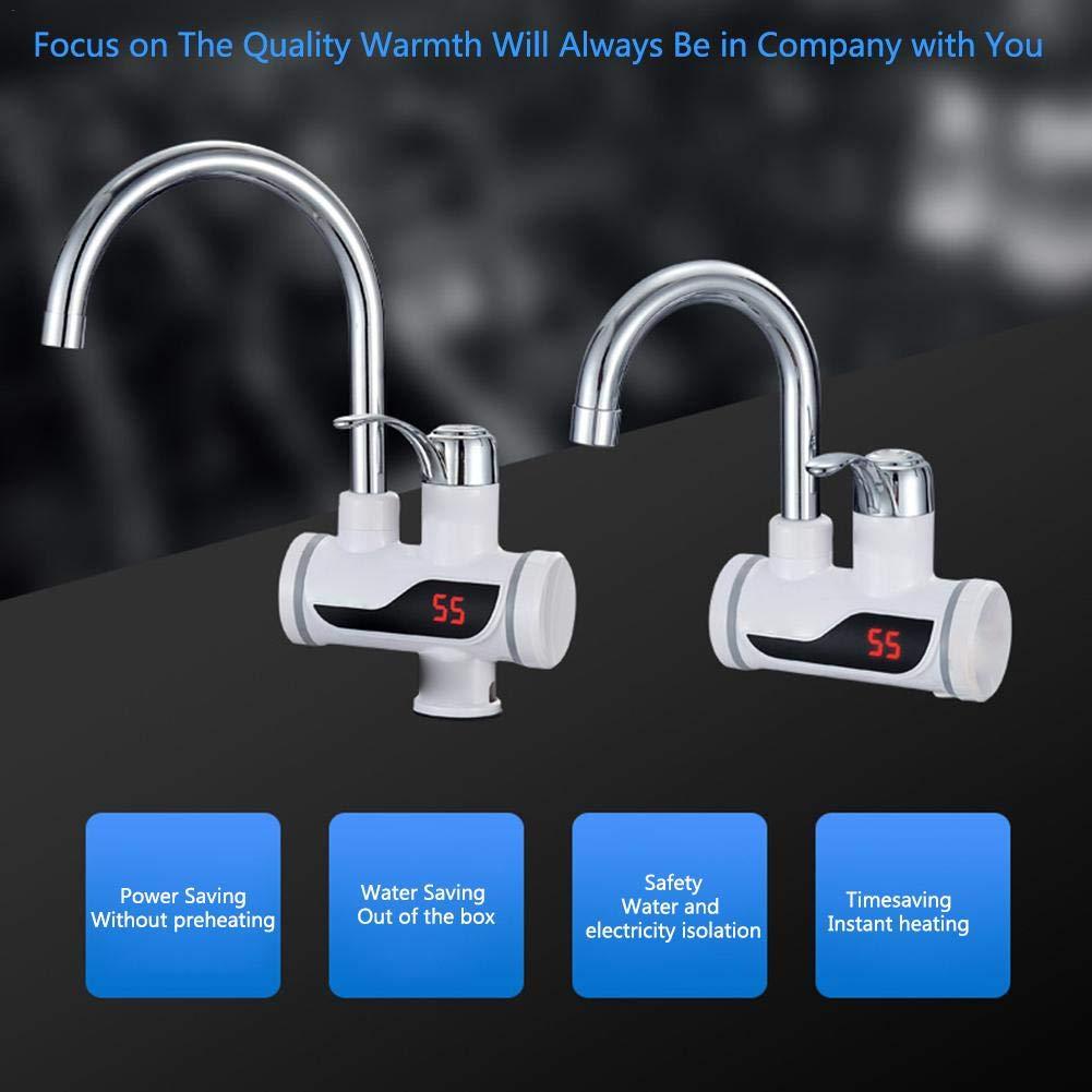 Urben Life Calentador de Agua eléctrico Grifo de Potencia Ajustable Grifo eléctrico Profesional, Calentador de Agua…