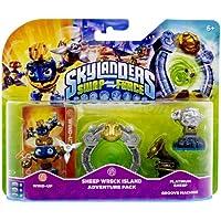 Figurine Skylanders : Swap Force - Wind Up  + Sheep Wreck Island + Platinum Sheep + Groove Machine