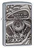 Zippo Harley-Davidson PLACCA, Accendino Antivento, Ricaricabile a Benzina Unisex Adulto, Cromato, Regular 5.7 x 3.7 x 1.2 cm