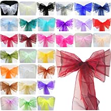 TtS 100X Organza Cinta Cubierta Silla 22cmX280cm Lazo Organza Bowknot Decoración Boda Navidad- Purple Majesty