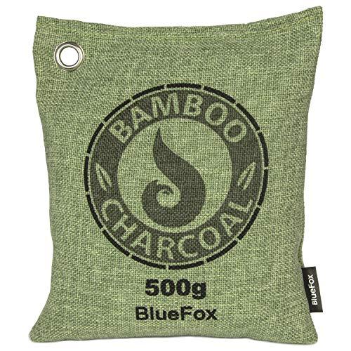 Blue Fox 500g natürliche Luftentfeuchter Badezimmer-Schrank Geruch Duft Luftreiniger Entfeuchter Aktivkohle Auto Kühlschrank Öko Filter Deko Duft Schimmel Schweiß-Geruch in der Sporttaschin grün