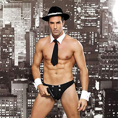 Männer Erotische Unterwäsche Sexy Lingerie, Polizei Detektiv Performance Anzug, Cosplay Spaß Uniform Versuchung, Verlockende Männer ()