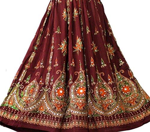 Atemberaubende Damen Indische Boho Hippie Zigeuner Sequin Sommer Sommerkleid Maxi Rock M L (Kostüm Indische Hippie)
