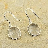 D? Ohrringe Oval Naturstein und Silber 925–Cristal de Quartz preisvergleich bei billige-tabletten.eu
