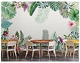 Yosot Benutzerdefinierte Wandbild Tapete 3D Aquarell Einfache Tropische Pflanze Restaurant Wohnzimmer Schlafzimmer Kinder Tv Tapetes 3D-350cmx245cm